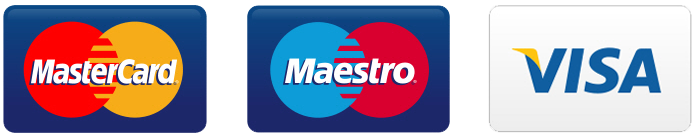 Mastercard, Maestro, & Visa credit Cards